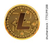 crypto currency golden coin... | Shutterstock .eps vector #775199188