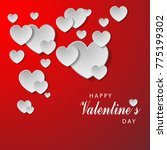 happy valentines day and weding ... | Shutterstock .eps vector #775199302