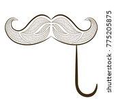 zen tangle fake mustache... | Shutterstock . vector #775205875