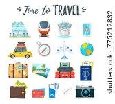 vector cartoon style set of... | Shutterstock .eps vector #775212832