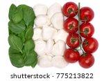 italian flag colors arranged... | Shutterstock . vector #775213822