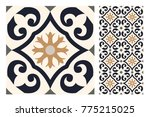 tiles vintage patterns antique... | Shutterstock .eps vector #775215025