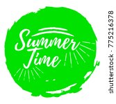 summer time label. font with... | Shutterstock .eps vector #775216378