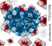 merry christmas party... | Shutterstock .eps vector #775217458