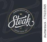 steak house or meat store... | Shutterstock .eps vector #775221505