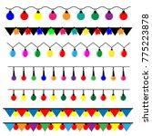 string of christmas lights | Shutterstock .eps vector #775223878