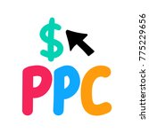 ppc or pay per click. badge ... | Shutterstock .eps vector #775229656