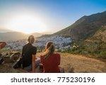 two blonde tourist girls... | Shutterstock . vector #775230196