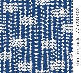indigo tie dye seamless pattern....   Shutterstock .eps vector #775231402