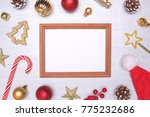 christmas composition. empty... | Shutterstock . vector #775232686