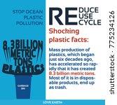 stop plastic pollution reduce ...   Shutterstock .eps vector #775234126