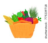 many different vegetables and...   Shutterstock .eps vector #775239718