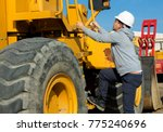 young specialist is getting up... | Shutterstock . vector #775240696