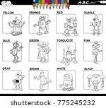 black and white cartoon... | Shutterstock .eps vector #775245232