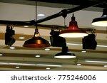 interior spotlight closeup... | Shutterstock . vector #775246006