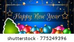 2018 happy new year background... | Shutterstock .eps vector #775249396