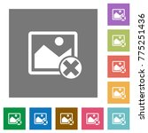 cancel image operations flat... | Shutterstock .eps vector #775251436