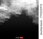 white vector cloudiness  mist...   Shutterstock .eps vector #775252972