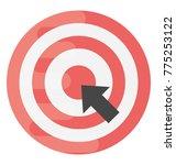 a dartboard and arrow click... | Shutterstock .eps vector #775253122
