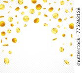 falling gold coins in different ...