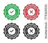 approved icon  rejected icon | Shutterstock .eps vector #775265032