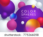 colored balls on a gray... | Shutterstock .eps vector #775266058