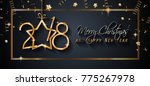 2018 happy new year background... | Shutterstock . vector #775267978