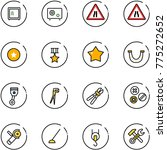 line vector icon set   safe... | Shutterstock .eps vector #775272652