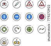 line vector icon set   star... | Shutterstock .eps vector #775272922