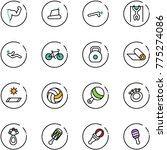 line vector icon set   power... | Shutterstock .eps vector #775274086