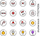 line vector icon set   cafe... | Shutterstock .eps vector #775274206
