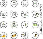 line vector icon set   dollar... | Shutterstock .eps vector #775274272