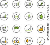 line vector icon set   growth... | Shutterstock .eps vector #775274716