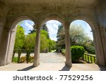 View From Arched Portico...