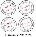 a set of stamps to twitter ...
