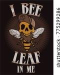 skull graphic vector bee... | Shutterstock .eps vector #775299286