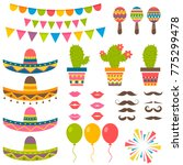 set with traditional mexican... | Shutterstock . vector #775299478