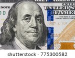 Small photo of Close up of new hundred dollar bill.