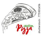 italian pizza slice   pizza... | Shutterstock .eps vector #775301656