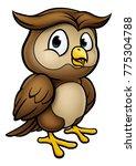 A Cute Owl Cartoon Character...