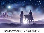 a nativity christmas scene... | Shutterstock . vector #775304812