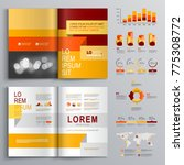 business brochure template... | Shutterstock .eps vector #775308772