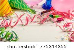 birthday party. confetti and...   Shutterstock . vector #775314355