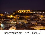 night shot of lisbon with... | Shutterstock . vector #775315432