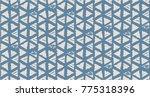 vector tie dye seamless pattern.... | Shutterstock .eps vector #775318396