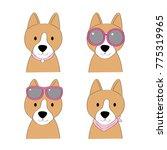 fashion cartoon cute brown dog... | Shutterstock .eps vector #775319965