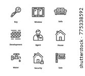 9 real estate thin line icon | Shutterstock .eps vector #775338592