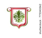 vintage heraldic emblem created ... | Shutterstock .eps vector #775343362