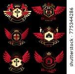 vector vintage heraldic coat of ...   Shutterstock .eps vector #775344286