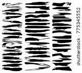 black ink vector brush strokes | Shutterstock .eps vector #775345552